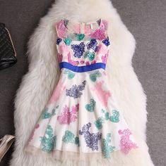 Fashion Round Neck Sleeveless Dress DFG33005RT