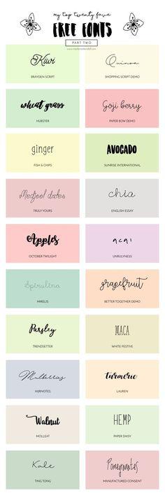My Top Twenty Favorite Free Fonts [PART TWO]