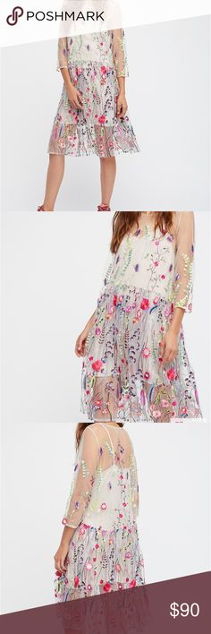 Nwt Free People Sheer Garden Mini Dress size S Nwt Free People Sheer Garden Mini Dress. Size small. Super cute and effortlessly casual cool or semi formal. Retail $168. Free People Dresses Mini
