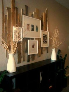 Love the recycled wood backdrop to the photos