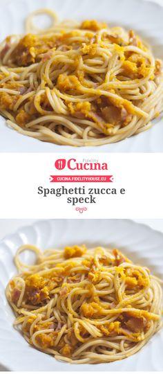 #Spaghetti #zucca e #speck della nostra utente Chiara. Unisciti alla nostra Community ed invia le tue ricette!