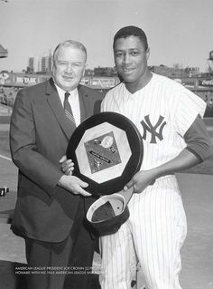 """On this day in 1963 ELSTON HOWARD IS the first black player in AMERICAN LEAGUE to receive the """"MVP""""award"""
