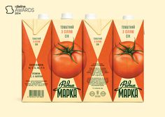 Ridna Marka — this has been done a million times, but this is a great execution. Tomato Juice