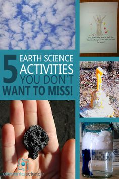 5 earth science activities you don't want to miss doing in your homeschool!