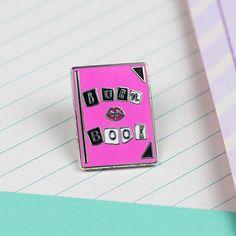 Burn Book Enamel Pin // Mean girls pin lapel pin hard by Punkypins