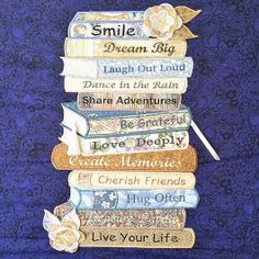 Stacked Books Wall Hanging