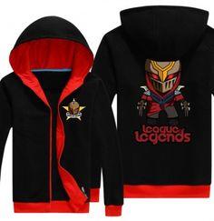 Zed fleece hoodie for men 4XL League of Legends hooded sweatshirts
