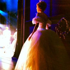 Laura Osnes backstage at CINDERELLA on Broadway