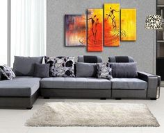 Abstract Painting of Love, Large Acrylic Painting, Abstract Painting, Bedroom Wall Art