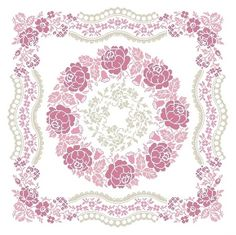 "ROSES Design Area: 19,36""W x 19,36""H 271 x 271 stitches Cross Stitch Archivo PDF vía e-mail $23.00USD o 21€ *** PAGO..."