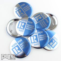 Our acetate finish upgrade lets you have a metallic finish on your buttons, magnets, mirrors, zipper pulls, and clothing magnets. This affordable upgrade makes your custom promotional products stand out with a metallic gleam! Political Campaign, Custom Buttons, Rectangle Shape, Metallic, Things To Come, It Is Finished, Politics, Pure Products, Political Books