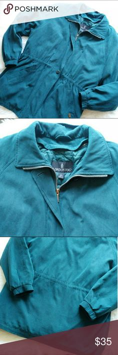 London Fog Blue Vintage Utility Coat Perfect for fall/winter. Excellent pre owned condition! London Fog Jackets & Coats Utility Jackets