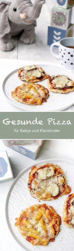 Rezept für gesunde und schnelle Pizza für Babys und Kleinkinder - Gaumenfreundin Foodblog #kochenfürkinder #rezeptefürkinder #kinderpizza #babypizza #kindersnacks #kinderessen