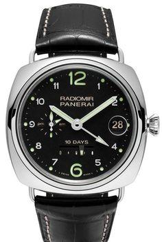 Часы наручные Officine Panerai Radiomir 10 Days GMT Limited Edition 250 PAM 00496 - золотые часы - white gold
