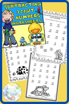Subtraction Worksheets, Number Worksheets, Morning Work, Addition And Subtraction, Math Resources, Math Centers, Students, Ocean, Teaching