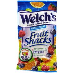 I'm always on the hunt for healthy, portable snacks for my kids. Real fruit is great, but I've found four-day-old, half-mashed bananas at the bottom of. Welches Fruit Snacks, Gourmet Recipes, Snack Recipes, Thai Salads, Slimming Recipes, Mixed Fruit, World Recipes, Clean Eating Snacks, Pop Tarts