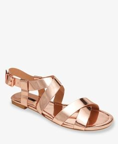 Rose gold sandals.  I want these!