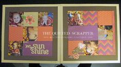"""The Quilted Scrapper: ABC Blog Hop """"S""""angria Layout #ctmhSangria"""