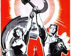 Reprint of a Soviet Communist Propaganda poster