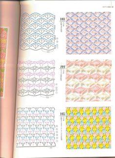 Ivelise Hand Made: Colored Dots Part Crochet Stitches Chart, Crochet Symbols, Knitting Stiches, Crochet Motifs, Crochet Diagram, Crochet Lace, Free Crochet, Knitting Patterns, Crochet Patterns