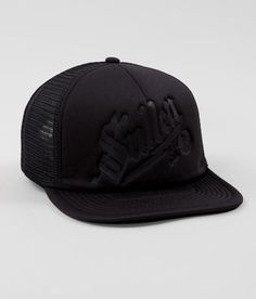 Sullen Blaq Lightning Trucker Hat - Men's Hats in Black Mens Trucker Hat, Hat For Man, Apple Logo, Snapback Hats, Wool Blend, Latest Fashion, Baseball Hats, Men's Hats, Lightning