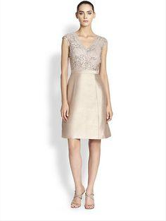Cute Little Number For the Big Send Off at the End of the Night! Kay Unger: Embellished A-Line Dress  http://www.saksfifthavenue.com/main/ProductDetail.jsp?FOLDER%3C%3Efolder_id=2534374306418048&PRODUCT%3C%3Eprd_id=845524446759293&R=884002565299&P_name=Kay+Unger&N=4294912143+306418048+399545540&bmUID=kKdDIyA