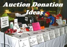 FundraiserHelp.com: Auction Donation Ideas - Getting enough auction items donated to sell at your charity event is a tough task. Sometimes, the best ideas for auction donations come from thinking outside the box about new or unusual sources. More auction donation ideas here: www.FundraiserHelp.com/auction/
