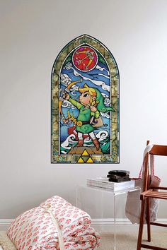 The Legend of Zelda Stained Glass Wall Decals