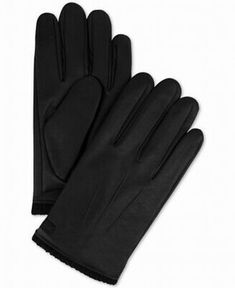 Alfani Men/'s Space-Dyed Touchscreen Warm Winter Gloves Black One Size NEW $55