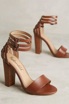 Three ankle straps because these Splendid Jena Heels are almost too much to handle.