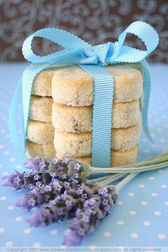 Lavender Shortbread - didnt add the egg and reduced the flour to 200g. perfect with the subtle hint of lavender. also, baked at 150 celcius for 20 mins and it didnt brown at all. will def make it again
