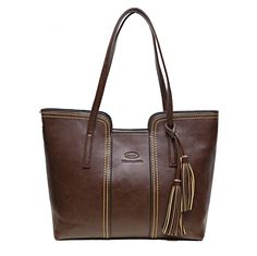 2016 New Women Messenger Bags With Tassel Famous Designers Leather Handbags Large Capacity Women Bags Shoulder Tote Bags Big *** Be sure to check out this awesome product. Women's Bags, Tote Bags, Tote Handbags, Ladies Handbags, Luggage Bags, Crossbody Bags, Sac Week End, Glands, Designer Leather Handbags