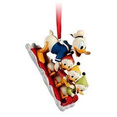 Huey, Dewey, Louie and Donald Duck Sketchbook Ornament   Ornaments   Disney Store