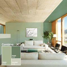 Arredare le pareti con il colore il verde salvia e un for Colori per la sala
