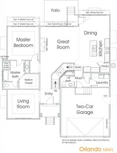 Delightful Orlando | Utah Floor Plan | Edge Homes  Master On Main Two Story House Plans