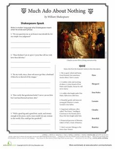 A comparison of romeo and juliet and much ado about noting by william shakespeare