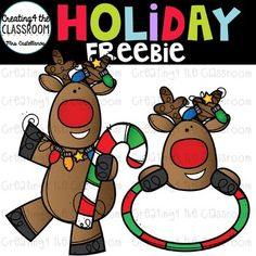 Holiday Freebie {Christmas Clip Art} I don't know about you. I hope this Reindeer Holiday Freebie brings some holiday cheer your way! Thank you so much for your ongoing support, and I look forward to bringing Free Clipart For Teachers, Teachers Pay Teachers Freebies, Special Education Classroom, Primary Classroom, Future Classroom, Christmas Clipart, Winter Clipart, Back To School Clipart, Speech Therapy Activities