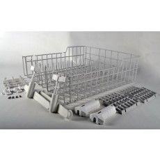 """#3369903 #DISHRACK #ASSEMBLY ADJUST Upper dishrack kit with rollers, rack is off white now Size Should Be 19.92 X 19.2"""" X 6.5"""" #dishwasher #part  http://www.partsimple.com/3369903-wpl-n-8.html"""