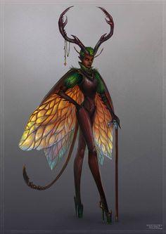 Fairyary 6 - Heels by Manticora-Miorro Mythological Creatures, Fantasy Creatures, Mythical Creatures, Character Inspiration, Character Art, Character Design, Dnd Characters, Fantasy Characters, Alien Concept Art