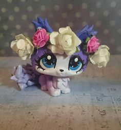 Lps cat custom purple + roses Diadem