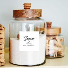 Kitchen Stickers, Kitchen Labels, Kitchen Jars, Pantry Labels, Food Labels, Printable Labels, Labels For Jars, Bottle Labels, Kitchen Stuff