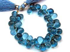 1/2 Strand  AAA London Blue Quartz Micro by GemsPebblesandBeads, $29.00