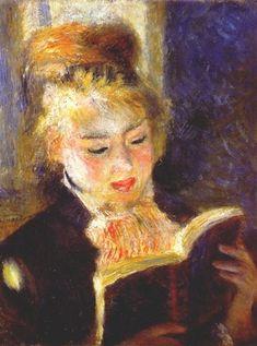 a woman reading  Renoir
