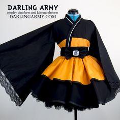Naruto Shippuden Cosplay Kimono Dress Wa Lolita Skirt Accessory | Darling Army Naruto short yukata