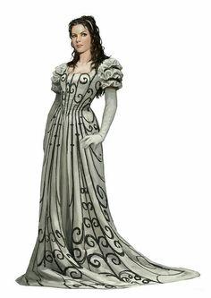 Human Female Aristocrat Noble - Pathfinder PFRPG DND D&D d20 fantasy