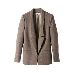 FINE DOGTOOTH JACKET (950 AUD) found on Polyvore featuring women's fashion, outerwear, jackets, blazers, coats, tops, women, brown blazer, blazer jacket and stella mccartney jacket