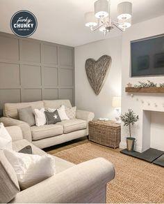 Cute Living Room, Beige Living Rooms, Cottage Living Rooms, New Living Room, Home And Living, Living Room Decor Fireplace, Living Room Panelling, Living Room Decor Cozy, Living Room Interior