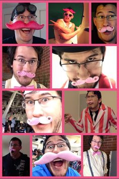 """""""Respect the 'stache ; Wilford Warfstache, Mark And Amy, Cryaotic, Septiplier, Markiplier, Best Youtubers, Lady And Gentlemen, So Little Time"""