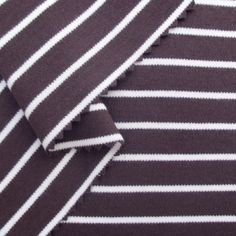 Bio Interlock-Jersey breite Streifen kastanienbraun
