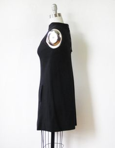 60s mod scooter dress / vintage 1960s black and di RustBeltThreads